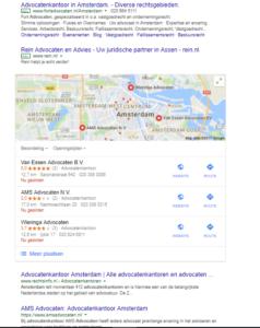 advocatenkantoor Amsterdam zoekresultaten